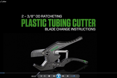 "2-3/8"" Ratcheting Plastic Tubing Cutter more view image https://www.hilmor.com/uploads/plastictubingcutter3_8.jpg"